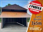 Garaż blaszany drewnopodobny z bramą uchylną różne wymiary profil zamknięty wiata hala schowek