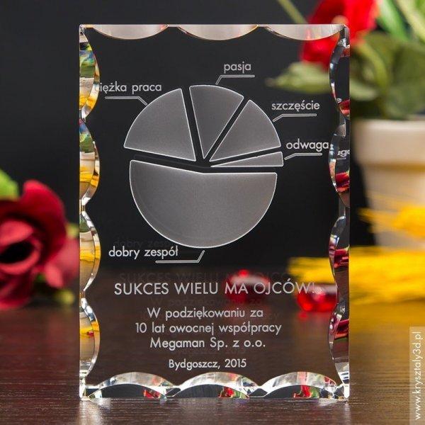 Nagroda firmowa - diagram 3D z personalizacją