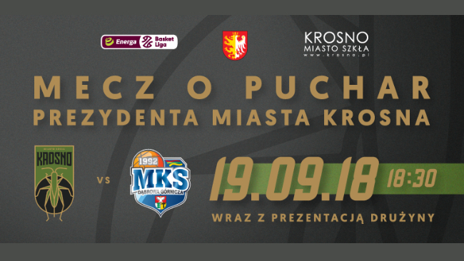 KOSZYKÓWKA: mecz o Puchar Prezydenta Miasta Krosna