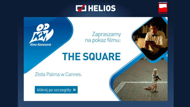 """Dziś """"Kino Konesera"""" w Heliosie. Wygraj wejściówki na film """"The Square"""""""