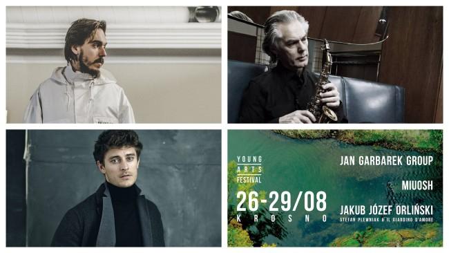 Jan Garbarek, Miuosh, Jakub Józef Orliński zagrają w sierpniu w Krośnie na Young Arts Festival