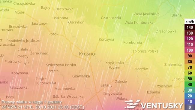 [ALERT] W środę i czwartek uwaga na silny wiatr! Miejscami porywy osiągną 90 km/h