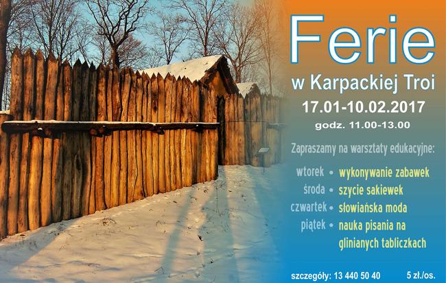 Ferie w Karpackiej Troi: cykl warsztatów