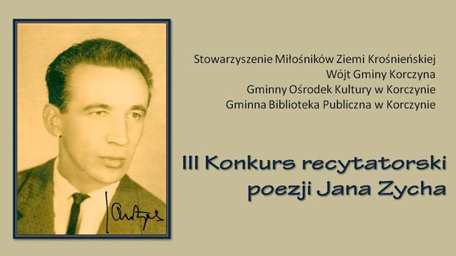 Korczyna: konkurs recytatorski poezji Jana Zycha