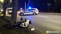 17-letni motocyklista z poważnymi obrażeniami trafił do szpitala