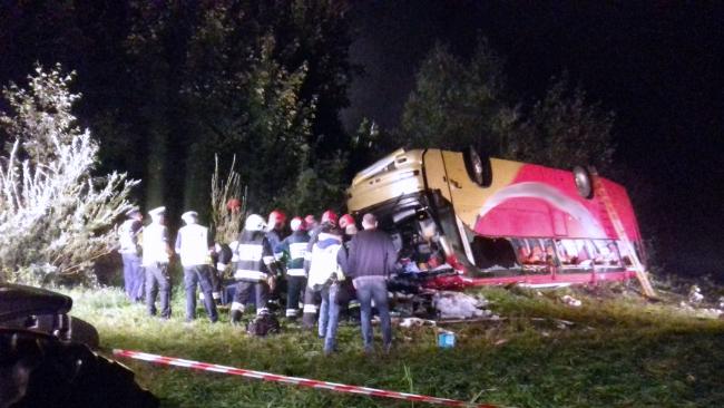 Tragiczny wypadek autokaru na Podkarpaciu. Zginęły trzy osoby