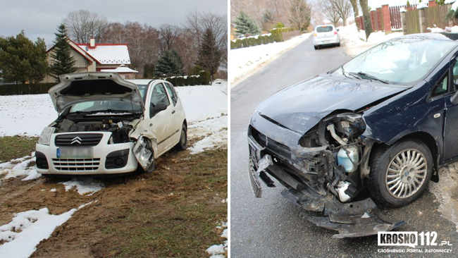 Poniedziałek na drogach: dwa groźne zdarzenia
