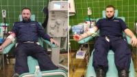 Policjanci z Krosna i Strzyżowa oddali osocze dla chorych na COVID-19