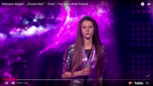 "Roksana Węgiel - finalistka ""The Voice Kids""."
