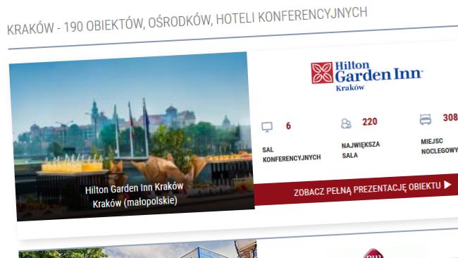 Obiekty na konferencje w Rzeszowie, Krakowie czy nad morzem - sale na ponad 300 osób