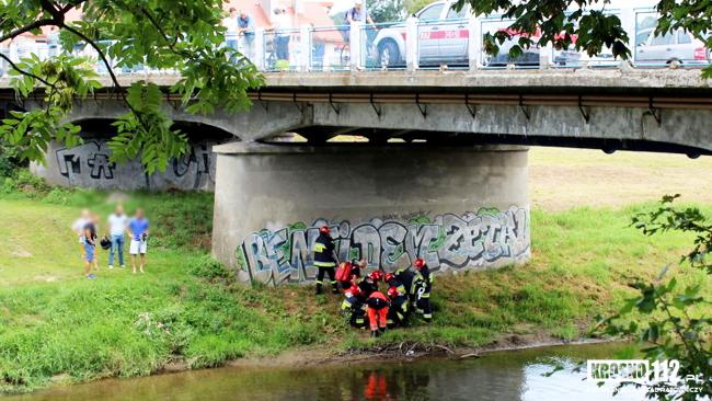Krosno: mężczyzna skoczył z mostu