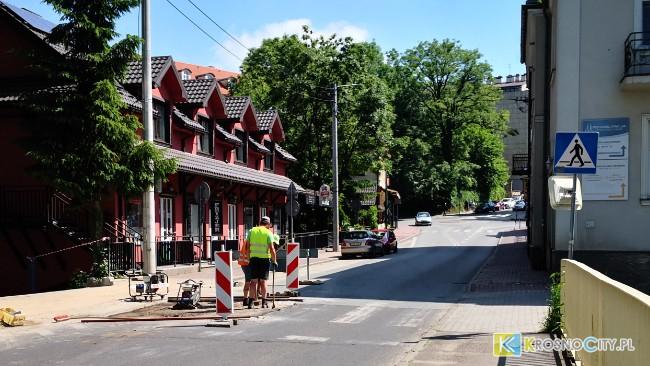 Trwa budowa przejścia dla pieszych na ul. Czajkowskiego
