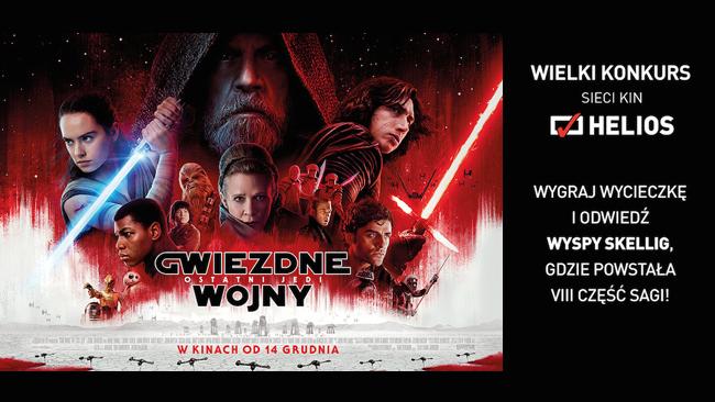 """""""Gwiezdne wojny: Ostatni Jedi"""" i filmowy konkurs w kinie Helios!"""