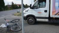 65-letnia rowerzystka potrącona przez dostawcze Iveco