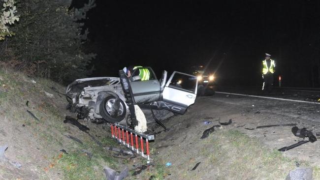 Wypadek na Podkarpaciu. Nie żyje pasażer Volvo