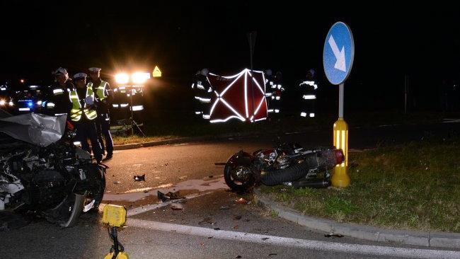 23-latek nie ustąpił pierwszeństwa motocykliście