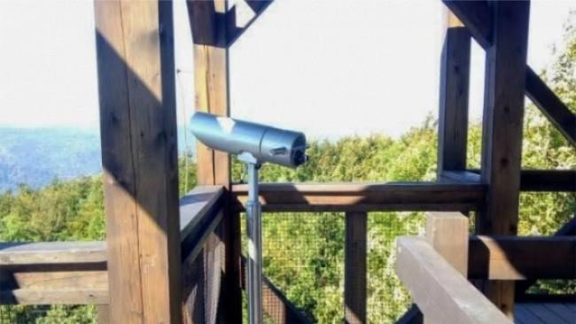 Na wieży w Cergowej zamontowano lunetę panoramiczną. To nowa atrakcja turystyczna